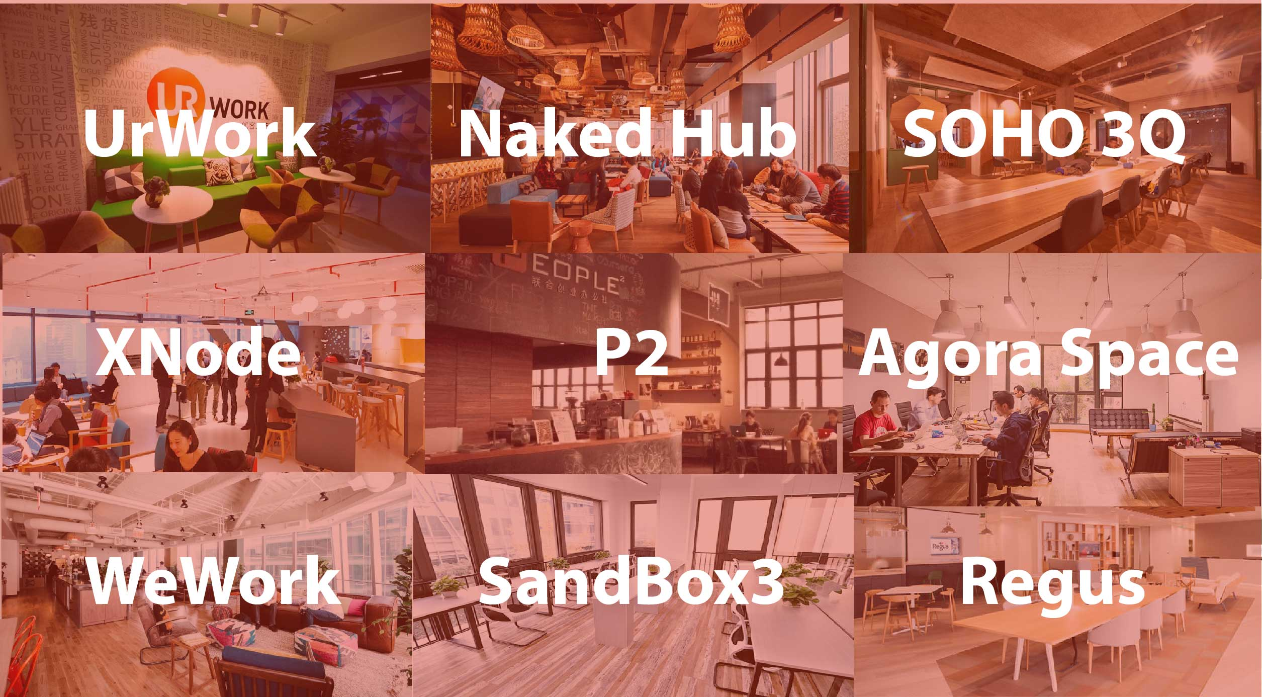 XNode list coworking space Shanghai China