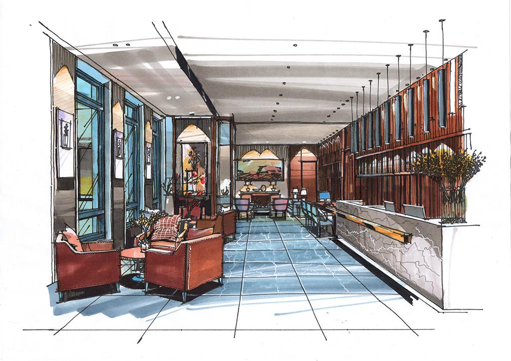 电商未来城售楼处设计手绘手绘