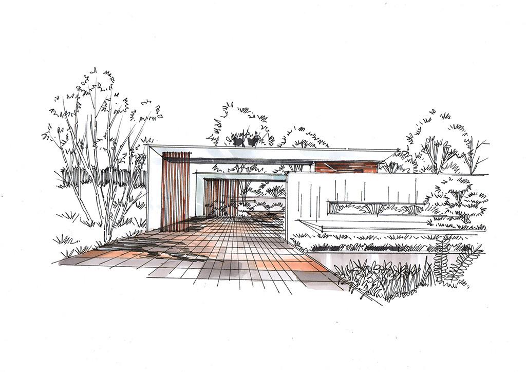 华润未来城市景观设计手绘表现