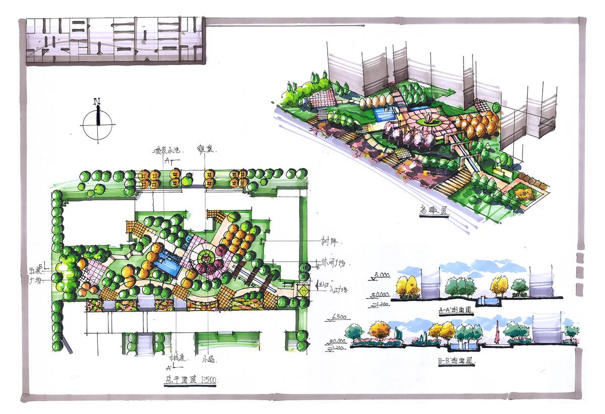 【天津手绘考研】风景园林27套完整快题方案