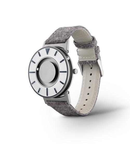 EONE 指南针系列 BR-COM-GRPT 深蓝色帆布带 触感设计腕表