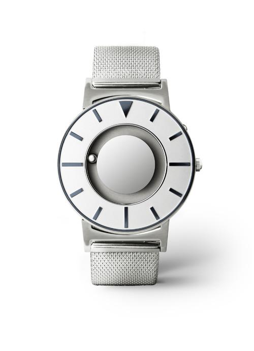 EONE 典藏系列 BR-SLV-BLUE 银蓝钢带 触感设计腕表
