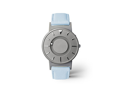 EONE 经典系列 BR-L-BLUE 粉蓝色皮带 触感设计腕表