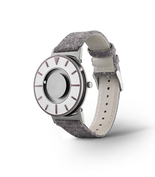 EONE 指南针系列 BR-COM-IRIS 深紫色帆布带 触感设计腕表
