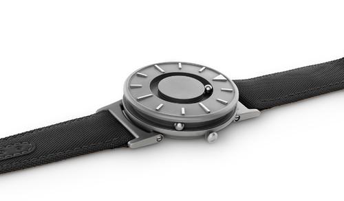 EONE 经典系列 BR-C-BLACK 黑色帆布带 触感设计腕表