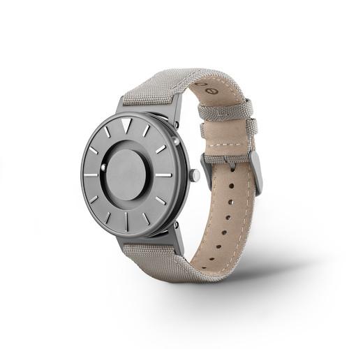 EONE 经典系列 BR-C-BEIGE 灰色帆布带 触感设计腕表
