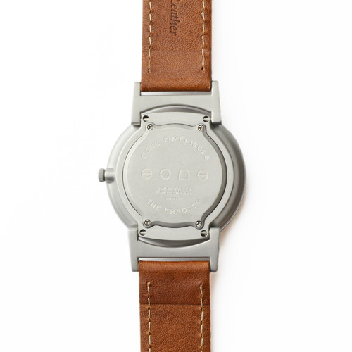 EONE 指南针系列 BR-IRIS-L-WD 深棕色皮带 触感设计腕表