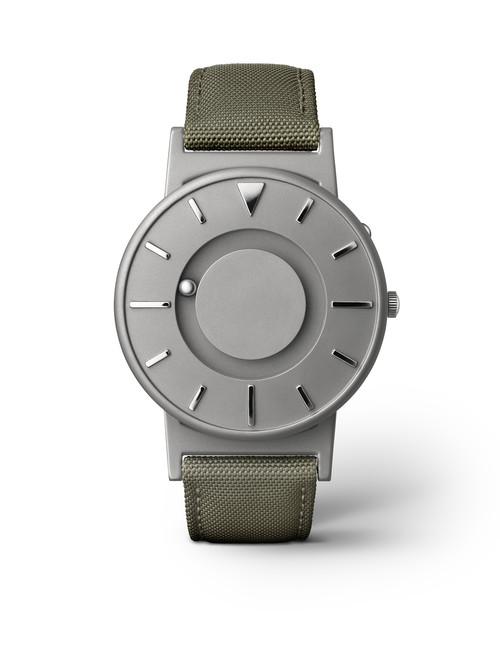 Eone 经典系列 BR-C-GREEN 墨绿色帆布带 触感设计腕表