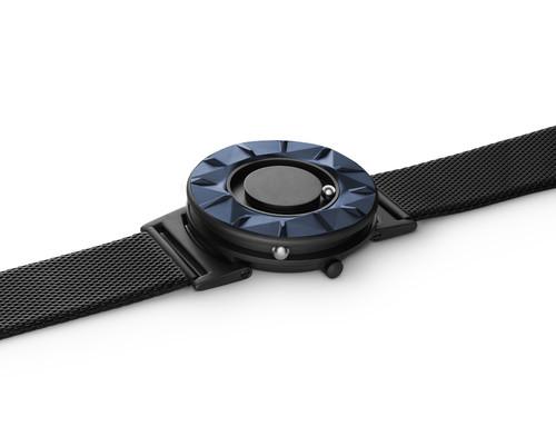 EONE 元素系列 BR-CE-BLUE 蓝陶瓷黑钢带 触感设计腕表