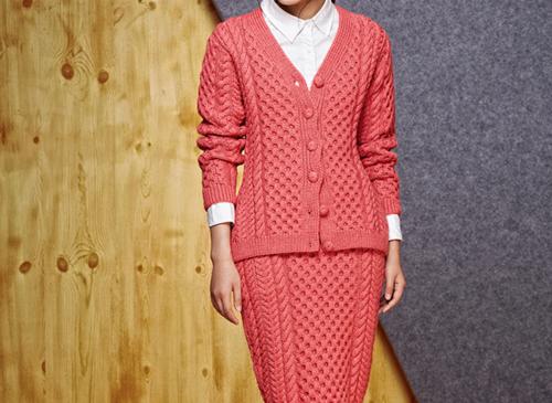 100% Pure Cashmere Cardigan & Skirt | Multiple Colors of Customization