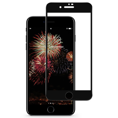 Tasikar iPhone 7 Plus Screen Protector / iPhone 8 Plus Screen Protector Full Coverage (Black)