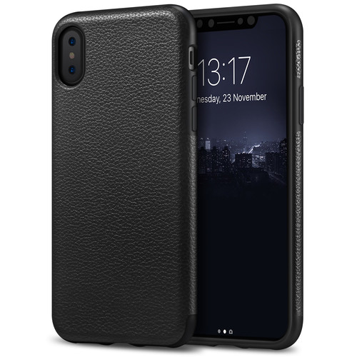 iPhone X Case Tasikar Perfect Fit Slim Case Premium PU Leather and TPU Design for iPhone X