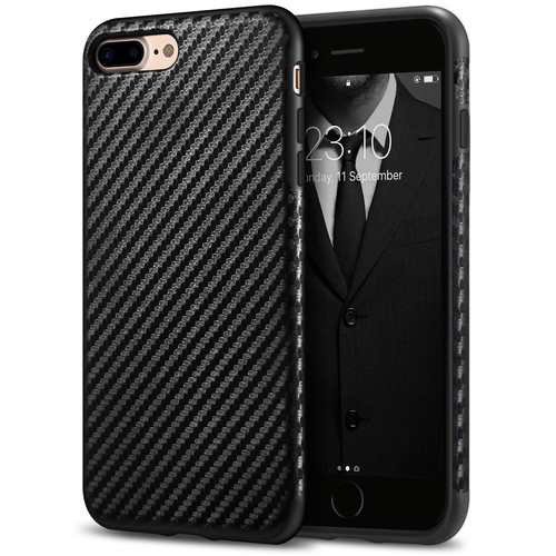 iPhone 7 Plus Case / iPhone 8 Plus Case Tasikar Good Grip Perfect Fit Case and Carbon Fiber Back