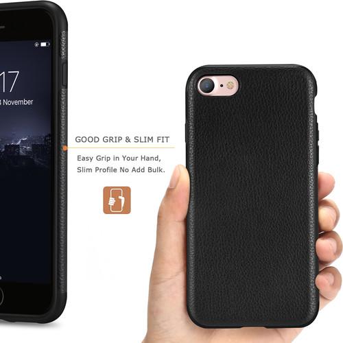 Tasikar iPhone 7 Case / iPhone 8 Case Perfect Fit Slim Case Premium PU Leather and TPU Design
