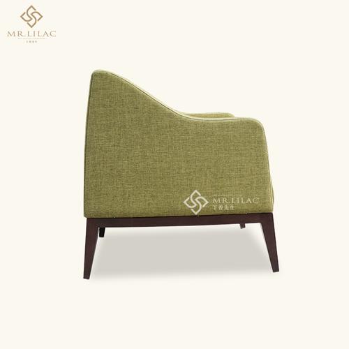 休闲沙发椅带脚蹬