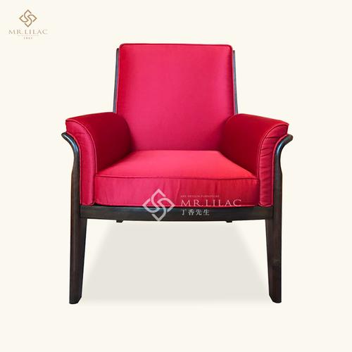 胡桃木新中式单人椅
