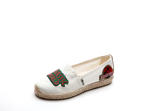 JURASSIC WORLD by J&M 女士麻底帆布休闲鞋 01737W  白色