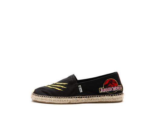 JURASSIC WORLD by J&M 男士麻底帆布休闲鞋 01737M   黑色